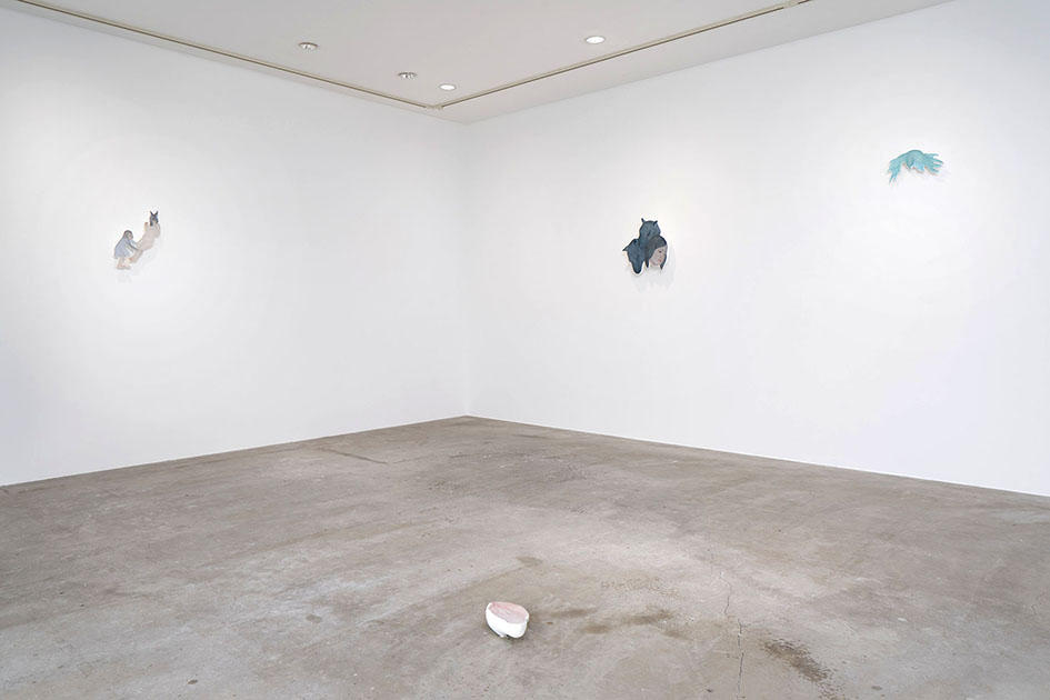 The installation view of solo show : Mask in the Bright Day