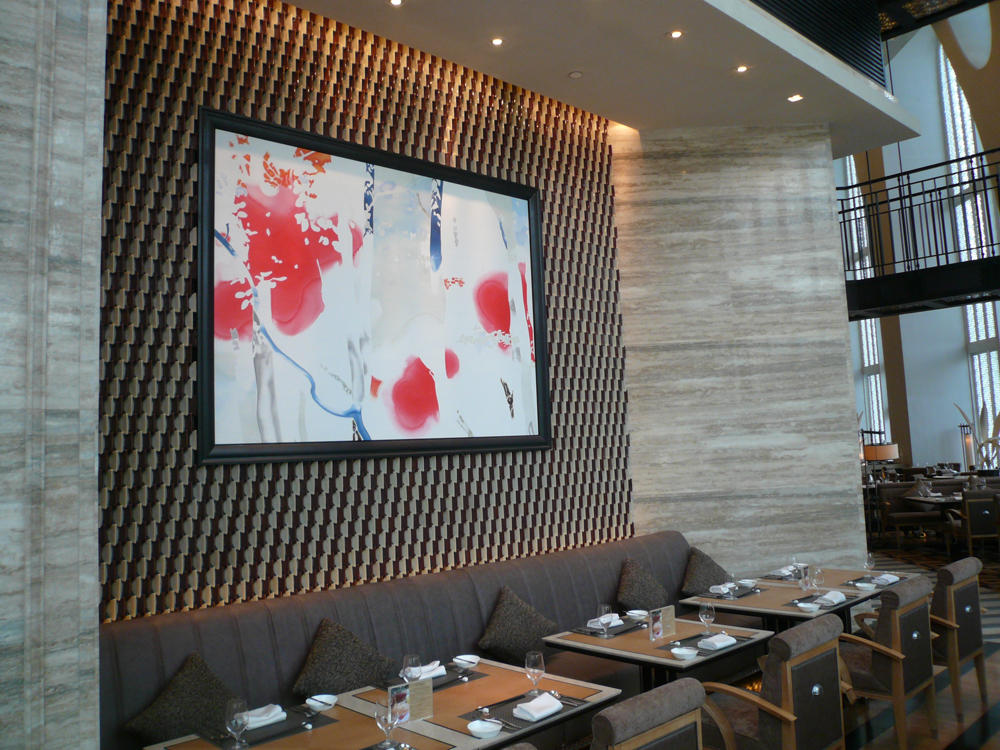 The installation view at Conrad Beijing.