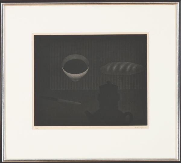 浜口陽三 コーヒー沸かしとパン  290×360.jpg
