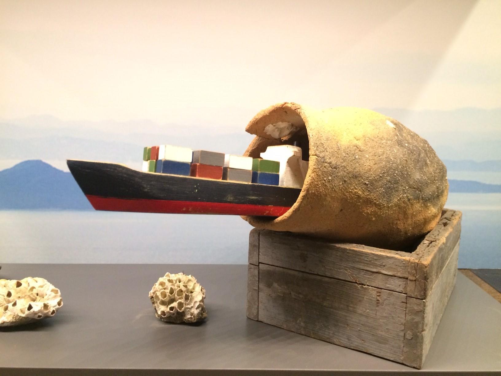 角文平が新作を出品中  「瀬戸内国際芸術祭」特別展示@Anjin