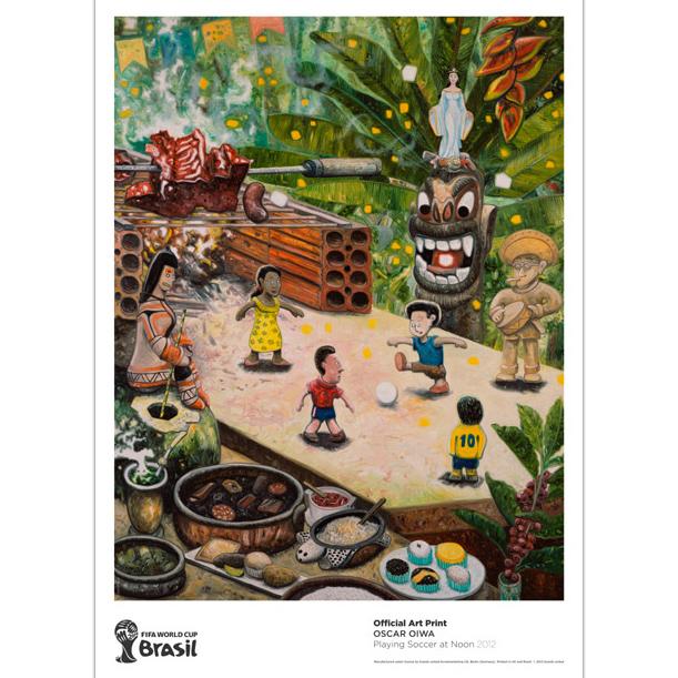 Oscar Oiwa :  FIFA official art print
