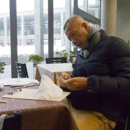 Cai Guo-Qiang planning for his exhibit in Echigo-Tsumari Art Triennale