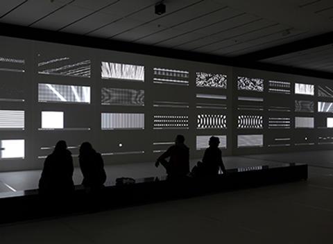 Carsten Nicolai solo exhibition at Ichihara Lakeside Museum, Chiba