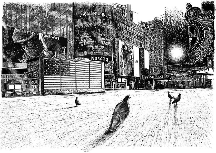 "Let's go on a trip! Digital Drawing Diary ""Quarantine"" from Oscar Oiwa, NY."